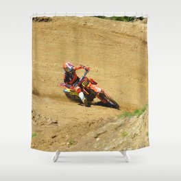 Turning Point Motocross Champion Race Shower Curtain