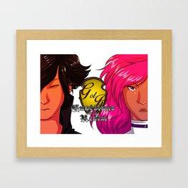David and Diana portrait tee Framed Art Print