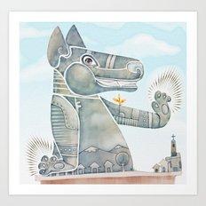 Tobias the dog. Art Print