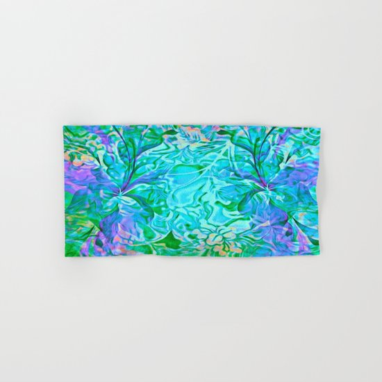 Tropical Breeze Floral Abstract Hand & Bath Towel