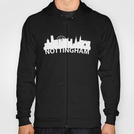 Curved Skyline Of Nottingham England Hoody