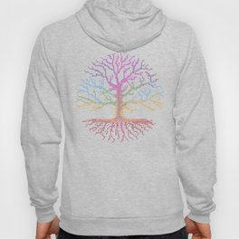 Rainbow Chakra Tree of Life - Real Stitch-able Color Coded Cross Stitch Chart Hoody