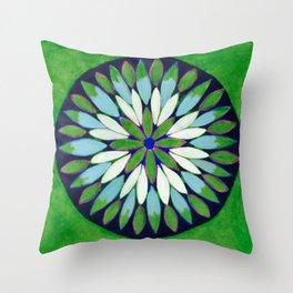 Botanical Refletions Throw Pillow
