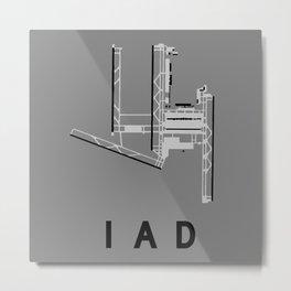 IAD Airport Diagram Metal Print