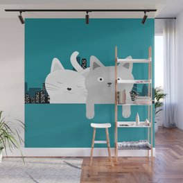 City Cats Wall Mural