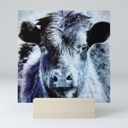Calf is Blue Mini Art Print