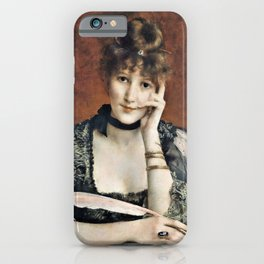 Alfred Stevens - The Letter - Digital Remastered Edition iPhone Case