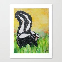 Watercolor Skunk Canvas Print