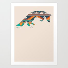 Graphic Foxy Art Print