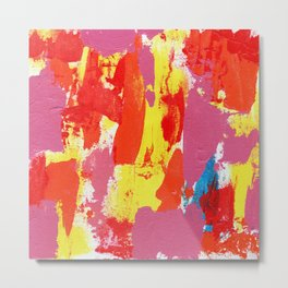 Abstract Expression #7 by Michael Moffa Metal Print