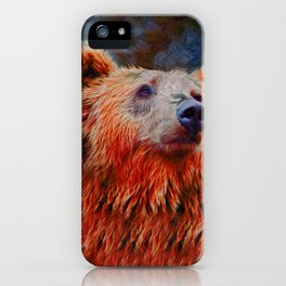 Spirit of the Grizzly Bear - Kodiak Moment iPhone Case