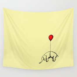 Red Elephant Wall Tapestry