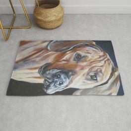 Rhodesian Ridgeback dog art portrait from an original painting by L.A.Shepard Rug