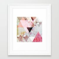 rose Framed Art Prints featuring Graphic 3 by Mareike Böhmer