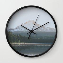 Trillium Lake Sunrise - Nature Photography Wall Clock