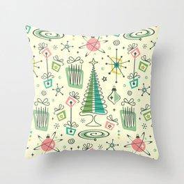 Vintage Holiday Fun! - Cream ©studioxtine Throw Pillow
