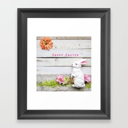 Happy Easter Bunny Framed Art Print
