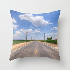 Lonesome Road Throw Pillow