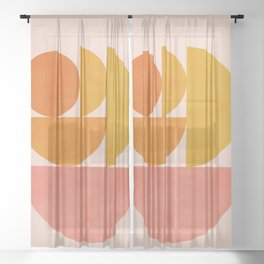 Abstraction_Summer_Color_Minimalism_001 Sheer Curtain