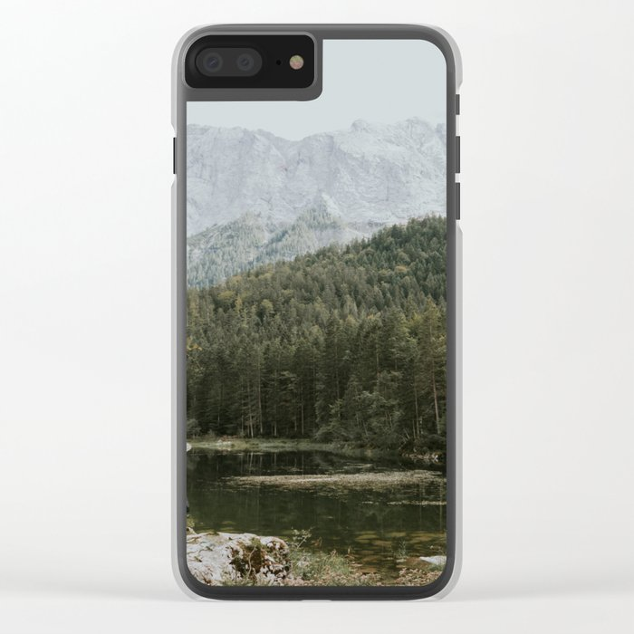 Mountain lake vibes II - Landscape Photography Clear iPhone Case
