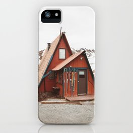 Red Cabin iPhone Case