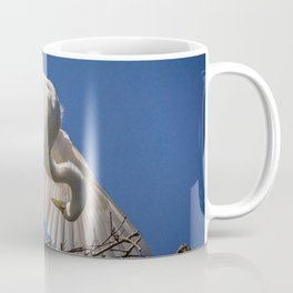Great Egret Feathers Coffee Mug