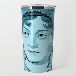 Jane Austen Blue Travel Mug