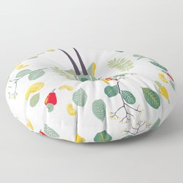 nuts and leaves (green) Floor Pillow