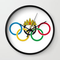 the lord of the rings Wall Clocks featuring Lord of the Rings by Out of the Dust Designs