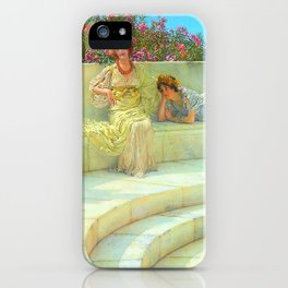 """Sir Lawrence Alma-Tadema """"Under the Roof of Blue Ionian Weather"""" iPhone Case"""