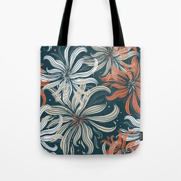 Stylized aster flowers Tote Bag
