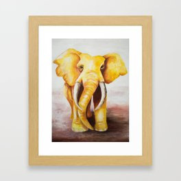 The Golden Elephant Framed Art Print