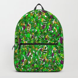 Frog among leaves Backpack