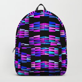Tribal Triangle Kilim in Electric Orchid Backpack