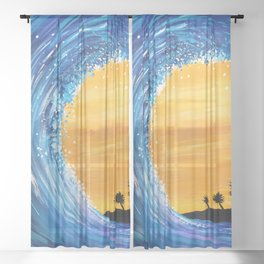 Tidal Wave Sheer Curtain
