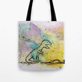 Dinosaur - 4, May 2014 - Tonight's Watercolor Tote Bag