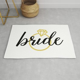 Bride with Diamond Ring (Gold) Rug