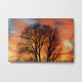 TRACERY Metal Print