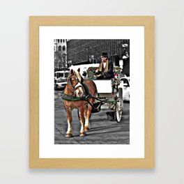 Horse and Carriage Photography Framed Art Print