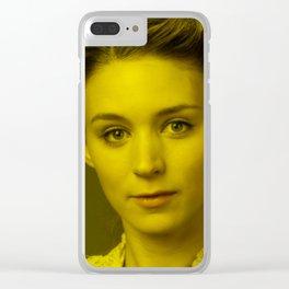 Rooney Mara - Celebrity (Florescent Color Technique) Clear iPhone Case