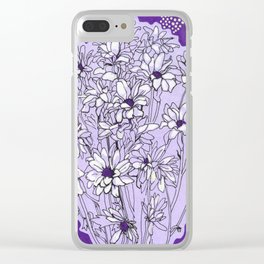 Chrysanthemum, violet version Clear iPhone Case