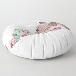 Kentucky map Floor Pillow