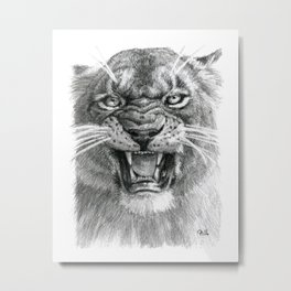 Wicked Lioness 748 Metal Print