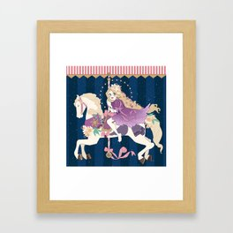 Carousel: New dream Framed Art Print
