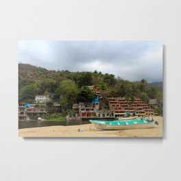 Dreamy Mexican Beach Day Metal Print