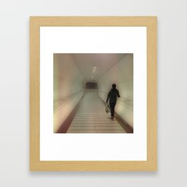 Darkness At The End Of The Tunnel. Framed Art Print