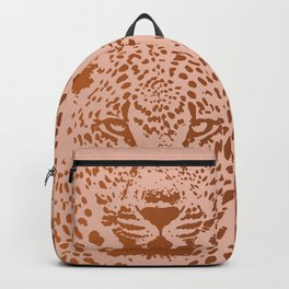 Sunset Blvd Leopard - blush pink and coral original print by Kristen Baker Backpack