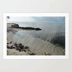 Your own private beach...  Art Print
