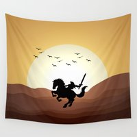 the legend of zelda Wall Tapestries featuring Legend Of Zelda Link by Inara