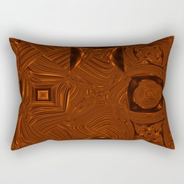 Abstract Art- Brown Art- Sacred Geometry Art- Mom From the Lotus Rectangular Pillow